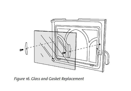 Jotul F100 Wood Stoves   -   Replacement Glass Part #129976 for the Jotul F100, F100 Nordic QT, F 100 CF and GF100 Wood Stoves