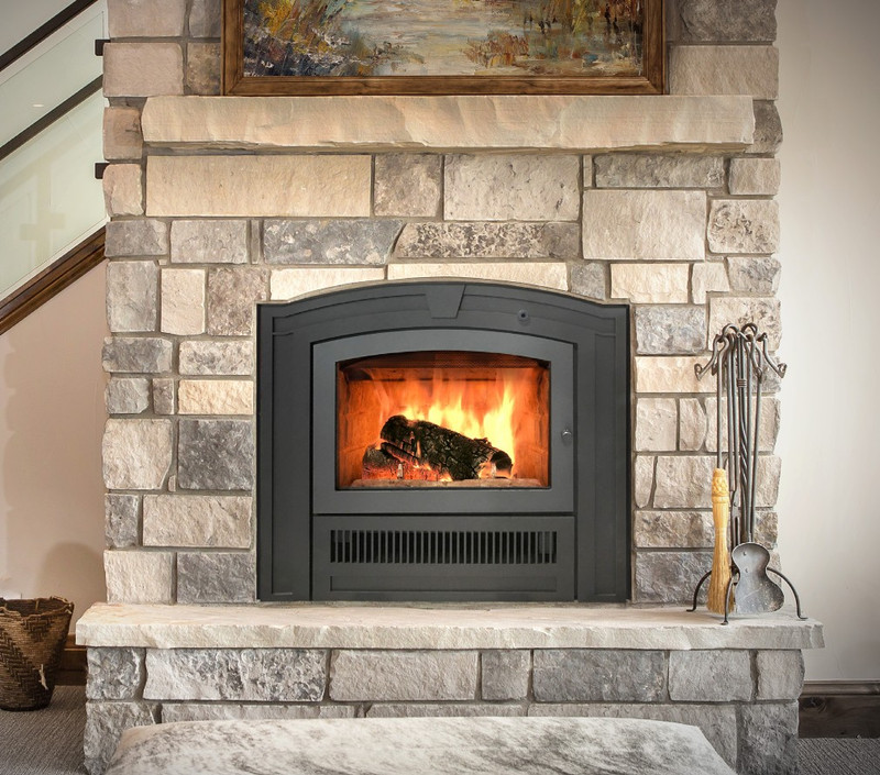RSF Opel Plus Keystone Wood Fireplace with Clean Face and Heat Ducts