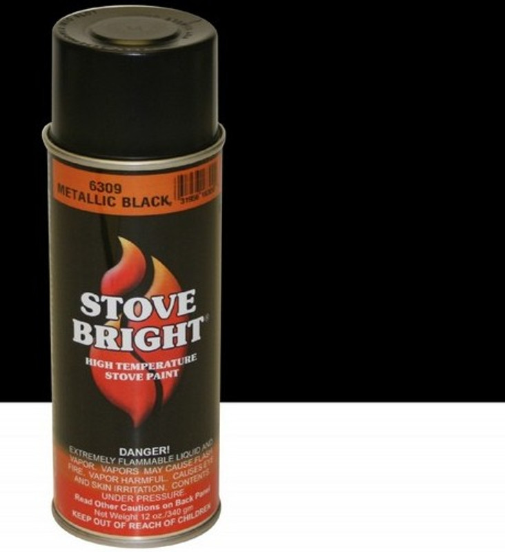Metalic Black High Temp Spray Paint
