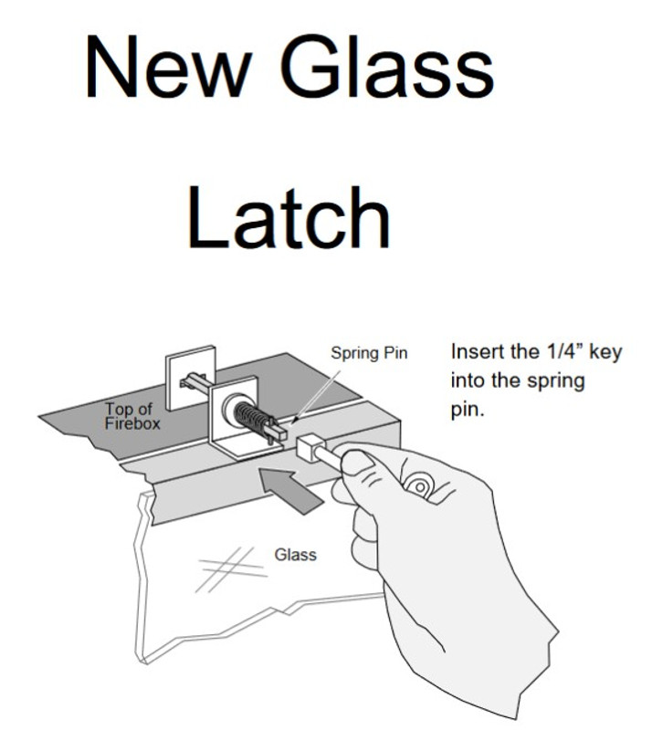 Sturbridge Glass w/ Key Latch Style Frame 224-21016