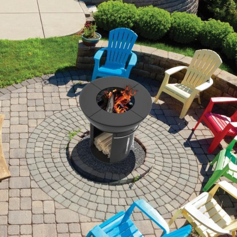 Outdoor Cast Iron Firepit / Grill w/Tall Base