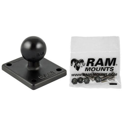 RAM Mount Garmin 4 Hole AMPS Adapter & Hardware
