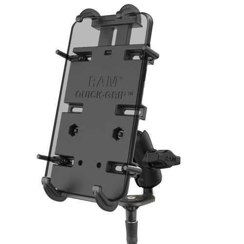 RAM Mount Motorcycle Fork Stem Quick Grip XL Phone Kit