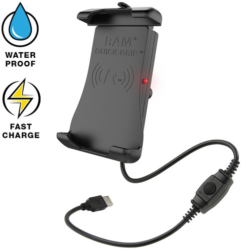 RAM Mount Quick-Grip Waterproof Wireless Charging Holder