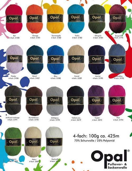 Opal Solids Sock Yarn