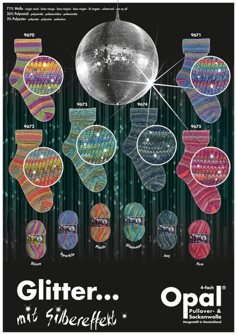 Opal 4Ply Sock Yarn - Style, Monet & Glitter