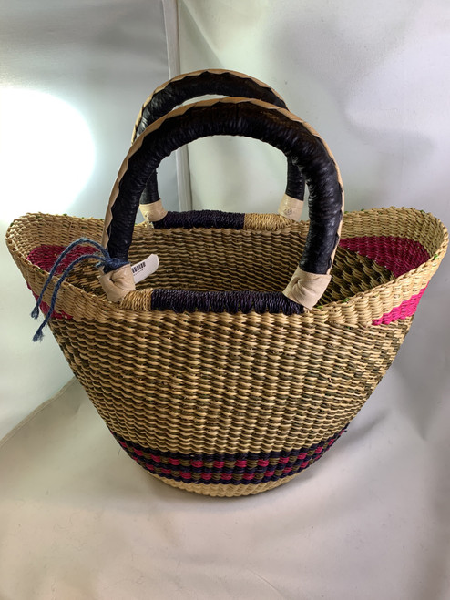 Small Basket - Pink with Handles