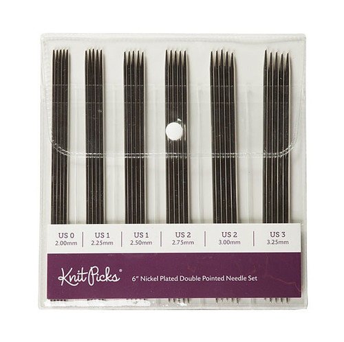 6 Inch Nickel Plated DPN Set - By Knit Picks