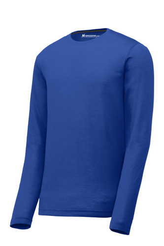 Hybrid Gear Men's Long Sleeve Moisture Wicking Cotton Touch T-Shirt