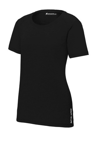 Hybrid Gear Ladies' Moisture Wicking Tri-Blend Scoop Neck Raglan T-Shirt