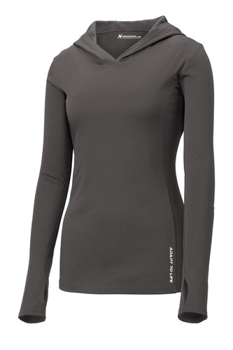 Hybrid Gear Ladies Four Seasons Hooded Pullover T-Shirt