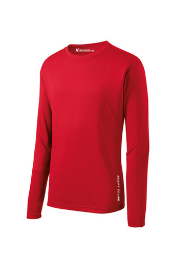 Hybrid Gear Men's Tall Long Sleeve Moisture Wicking T-Shirt