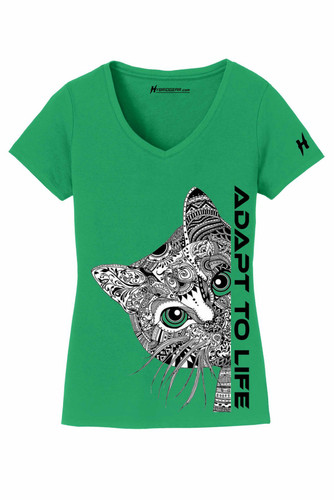 Mandala Cat Ladies V-Neck T-Shirt