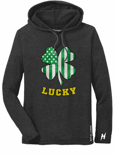 St. Patrick's Day Shamrock Men's Long Sleeve Hoodie T-Shirt