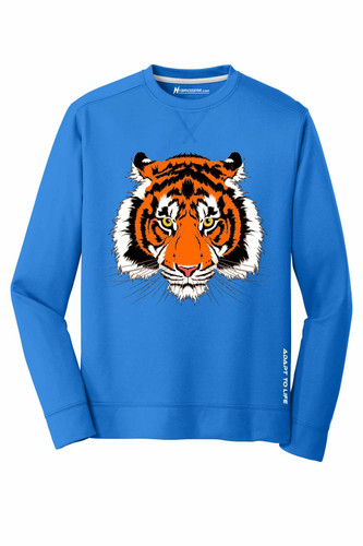 Tiger Men's Fleece Crewneck Pullover Sweatshirt