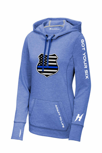 The Blue Shield Ladies Hoodie Sweatshirt