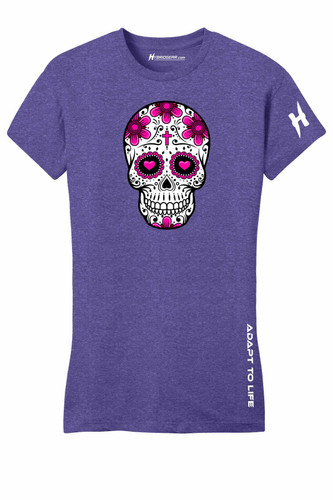 Sugar Skull Ladies Cotton T-shirt