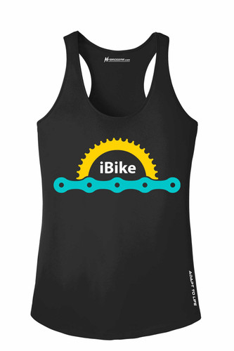 iBike Bicycle Design Ladies Racerback Tanktop