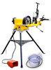 BLUEROCK PTM-300 Pipe Threading Kit includes PD-300 Power Drive, PTK-300 Threading Kit Assembly, OB-22 Oiler Bucket and H300 Tripod Stand