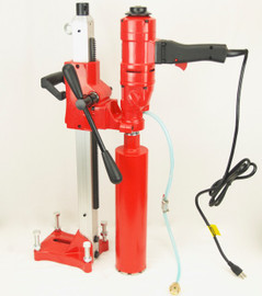 """BLUEROCK Model 4Z1WS Concrete Core Drill With Stand & 1-4"""" Bit Set - Package Deal"""