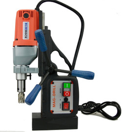 BLUEROCK Red BRM-35A Magnetic Drill Press - Typhoon Mag Drill