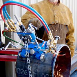 BLUEROCK CG-211Y Manual Pipe Cutting Beveling Machine Gas Torch Burner Cutter Kit
