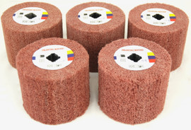 BLUEROCK 5 Piece Sanding Wheels PACKAGE DEAL for 120D Polisher (#80, 120, 180, 240, 320 Grit)