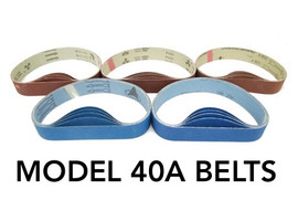 BLUEROCK 40A Pack of 5 Sanding Belts Sandpaper All Grits