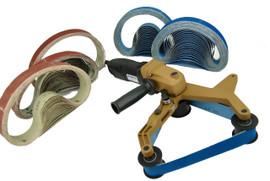REFURB BLUEROCK 40A & 100 Belts Pipe Polisher Belt Sander (Belts fit Metabo)