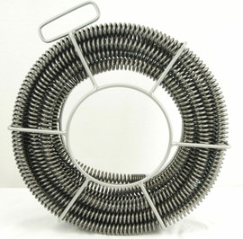 """BLUEROCK 7/8"""" x 45' Sectional Pipe Drain Cleaning Cable & Carrier fits RIDGID K60 A-62 C10 Cable"""