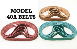 BLUEROCK Brand 40A Pack of 5 Nylon Non-Woven Sanding Belts Made with 3M™ Scotch-Brite™ Abrasive Material ALL GRITS