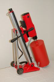 USED BLUEROCK Model 12Z1 T/S Concrete Core Drill w/ Tilting Stand & Vacuum Pump - PACKAGE DEAL
