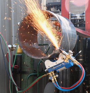 BLUEROCK CG-211C Motorized Magnetic Pipe Cutting Beveling Machine Gas Torch Burner Cutter Kit