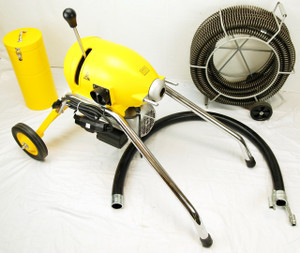 """BLUEROCK SDS200 2"""" - 8"""" Sectional Pipe Drain Cleaning Machine 60' Snake Cleaner"""