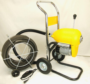 """BLUEROCK SDS200B 2"""" - 8"""" Sectional Pipe Drain Cleaning Machine 60' Snake Cleaner"""