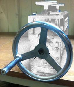 BLUEROCK Oversized Handwheel for STRiPiNATOR Model 808 Series