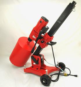 BLUEROCK Model 12Z1 LRBT/S Concrete Core Drill w/ Tilting Stand & Large Rolling Base