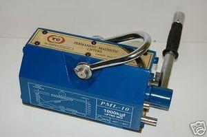 BLUEROCK Magnetic Lifter 1000 KG - 2200 Lbs Mag Lifting Steel Slab Plate Mag Lifting Magnet Crane Hoist