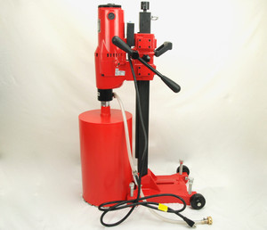 """BLUEROCK 10"""" Z1RB Concrete Core Drill w/ Stand & Rolling Base + 2 Bits - Package Deal"""