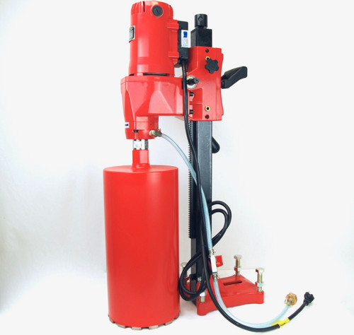 """BLUEROCK 8"""" Z1 Concrete Core Drill w/ Stand + 2 Bits up to 8""""OD - PACKAGE DEAL"""