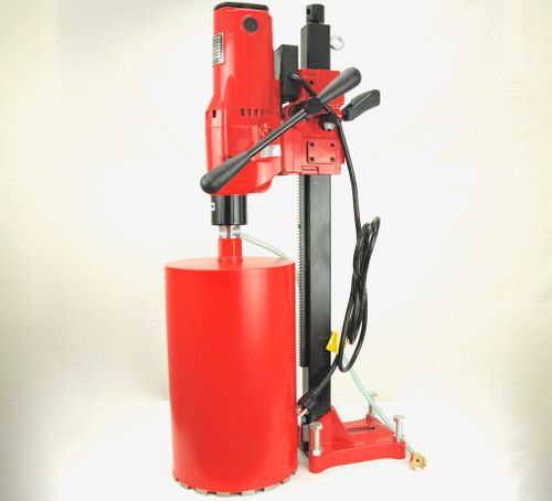"BLUEROCK 10"" Z1 Concrete Core Drill w/ Stand & 2 Core Bits - PACKAGE DEAL"
