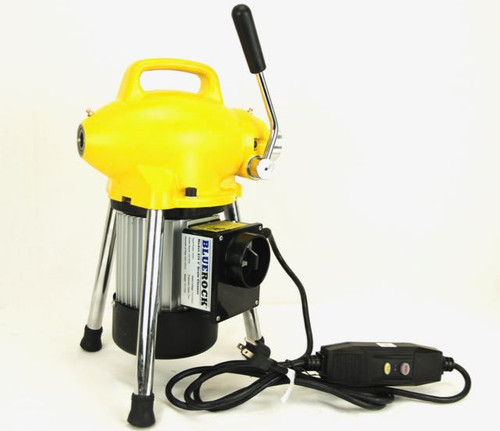 """REFURB BLUEROCK Model S75 Sectional Pipe Drain Cleaning Machine 3/4"""" - 4"""" Snake Cleaner"""