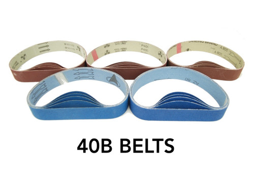 BLUEROCK 40B Pack of 5 Sanding Belts Sandpaper