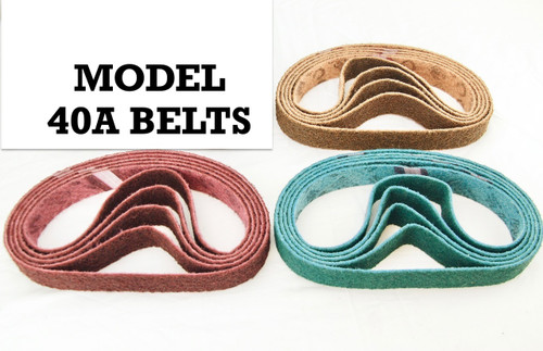 40A Pack of 5 Scotch Brite Type ALL GRITS (3M Style) Sanding Belts