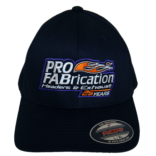 ProFab Hat, 25 Years Logo, Black Fitted