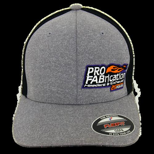 ProFab Hat, 25 Years Logo, Gray/ Black Adjustable