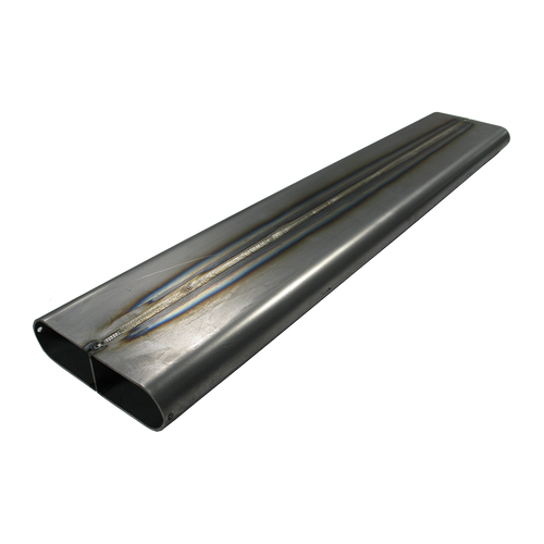 """4.2"""" x 14 Ga x 1.5"""" Oval Straight Tubing with Divider MS"""
