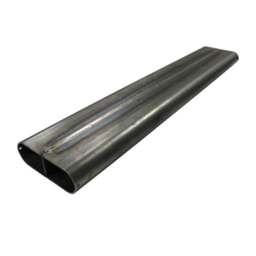 """4.2"""" x 14 Ga x 1.75"""" Oval Straight Tubing with Divider MS"""