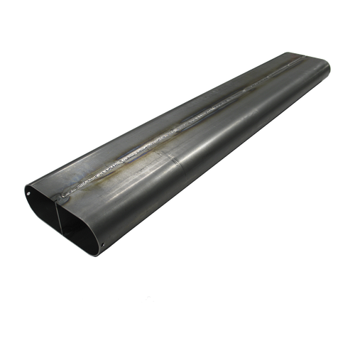 """4.2"""" x 18 Ga x 2"""" Oval Straight Tubing with Divider 4130 Chromoly"""