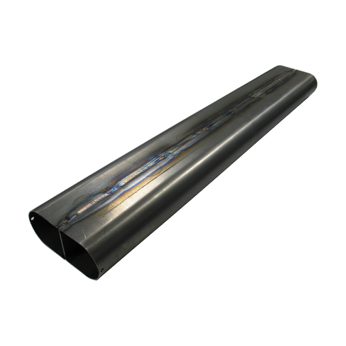 """4.2"""" x 14 Ga x 2.25"""" Oval Straight Tubing with Divider MS"""